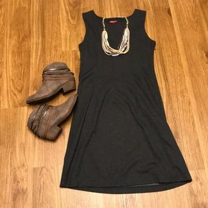 Merona dark gray pleated dress size medium
